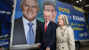 Prime Minister Malcolm Turnbull and Lucy Turnbull out campaigning this week.
