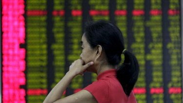The Shanghai Composite dropped a combined 25 per cent in July and August amid concern the economic slowdown is deepening.