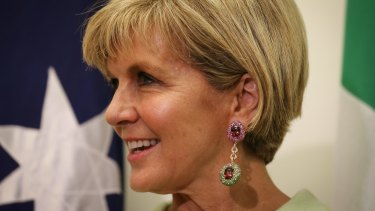 """Julie Bishop: """"Not one person in the party has raised with me any suggestion that there would be a change of leader."""""""