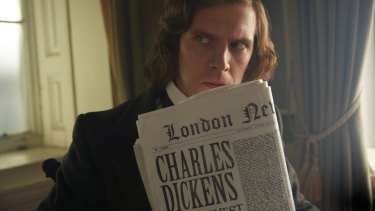 Dan Stevens plays Charles Dickens in The Man Who Invented Christmas.