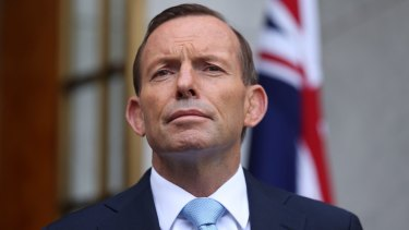 """""""It is an absolutely clear-cut case of a larger country bullying a smaller country, and this should have no place in our world."""": Tony Abbott."""