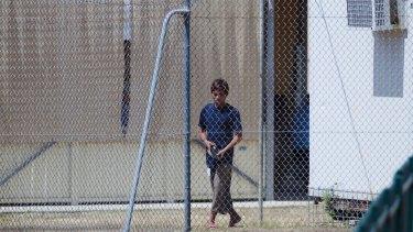 An asylum seeker in detention on Christmas Island.