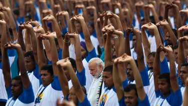 Modi often talks about yoga in speeches and during meetings with world leaders.