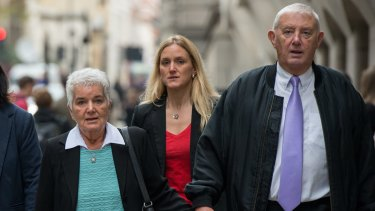 Jo Cox's mother Jean, sister Kim and father Gordon arrive for Thomas Mair's sentencing.