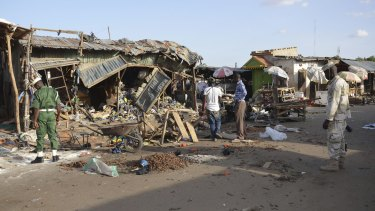 In a separate attack, Boko Haram hit this market in Nigeria last month.