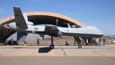 An unmanned US Reaper aircraft.