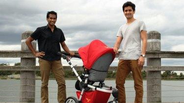 Rozibaby founders Tahir Baig and Rosh Ghadamian.