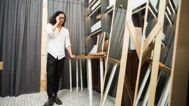 Allen Liao launched the glasses at a pop-up shop at Sydney's Old Clare Hotel.