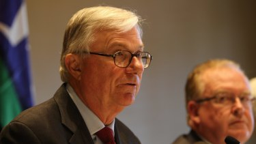 Justice Peter McClellan, chair of the child abuse royal commission, delivered the final report to government on Friday.