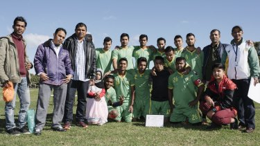The Lakemba Roos and their supporters.