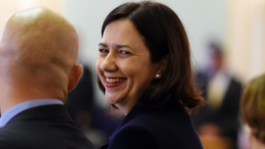 Winners are grinners:  Premier Annastacia Palaszczuk's Labor party would easily win another election if it was held tomorrow, a poll shows.