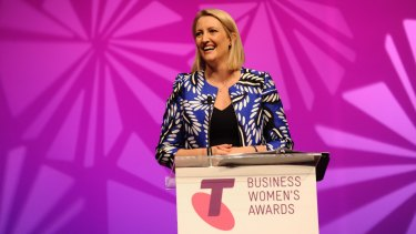 Drone developer Catherine Ball was named Telstra Businesswoman of the Year for 2015.