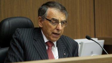 Former ICAC commissioner David Ipp, QC, presiding over landmark inquiries in 2013.