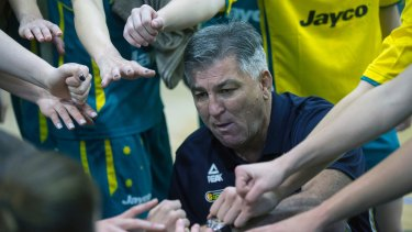 Pleased: Opals coach Brendan Joyce (pictured here at another game).