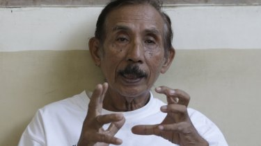 Lukas Tumiso, pictured last month at a nursing home in Jakarta, Indonesia, was tortured in 1965.