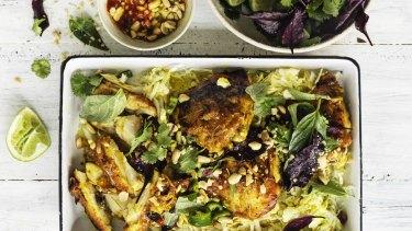 Roasted lemongrass and turmeric chicken.