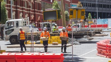 Work begins on the  the new CBD North Station.