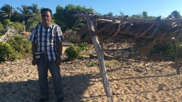 Landu village chief Semuel Messak says the disaster destroyed seaweed farming and dwindled fish stock.