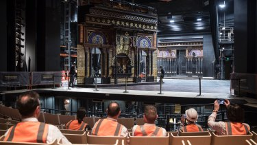 Stagehands show the improvements to the Joan Sutherland Theatre.