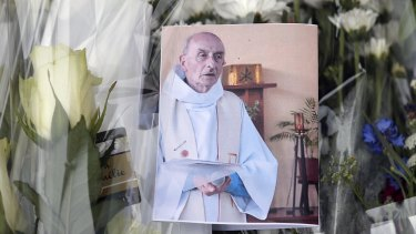 A picture of Father Jacques Hamel who was stabbed to death by two jihadists during mass.