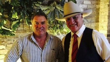 One Nation's Rod Culleton has been elected to the Senate from WA. He is pictured with Queensland MP Bob Katter.