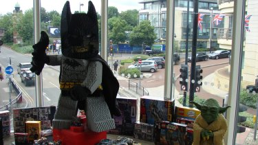 Batman and other Lego products at the TT Games office in Maidenhead, England.