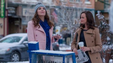 Lauren Graham and Alexis Bledel in <i>Gilmore Girls: A Year In The Life</i>.