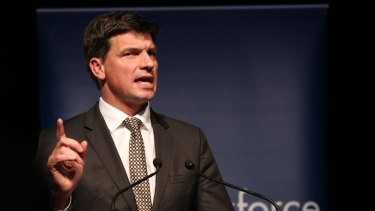 Computer says no:  Digital Transformation Minister Angus Taylor.