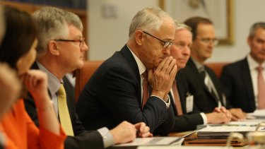 Prime Minister Malcolm Turnbull cut a lonely figure in the crowded COAG meeting room: isolated on climate change.