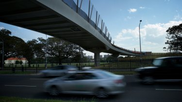 """Under scrutiny: The Albert """"Tibby"""" Cotter Walkway over Anzac Parade."""