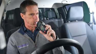 John Doherty runs Smart Start Interlocks, one of Melbourne's three alcohol interlock companies. The number of motorists with interlocks has soared in the two years since tougher new drink-driving laws were introduced.