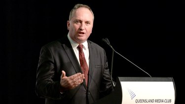 "Deputy Prime Minister Barnaby Joyce:  ""What it clearly shows to people is there's a future for the coal industry and there better be 'cause it's one of our nation's biggest exports and it's one of NSW's biggest exports and it employs an awful lot of people."""