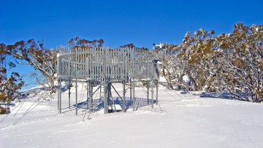 Cloud seeding equipment in Kosciuszko National Park.