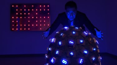 <i>Pile Up Life</i> is one of a number of artworks by Tatsuo Miyajima that deal with the large-scale loss of life.
