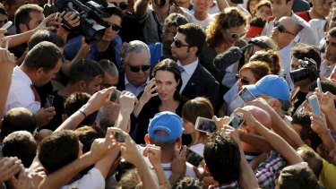 Angelina Jolie performs work around the world to highlight the plight of refugees.