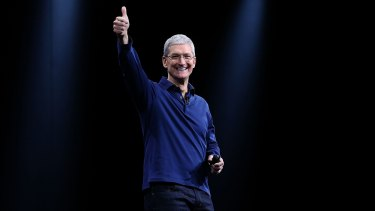 Apple CEO Tim Cook has thrown money at the shower.