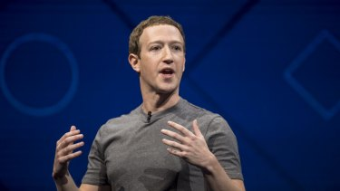 Under fire: Facebook founder and CEO Mark Zuckerberg.