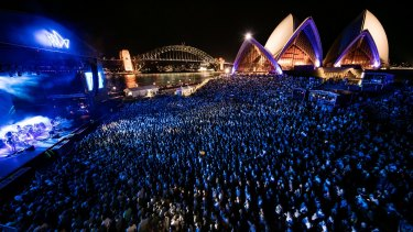Jan Utzon has expressed concerns about the staging of outdoor events at the Sydney Opera House.