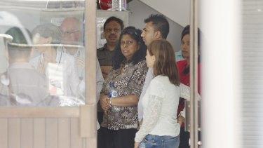 Myuran Sukumaran's mother, Raji Sukumaran arrives at  Wijaya Pura in Cilacap, to visit her son.