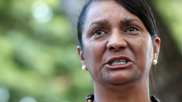 Former Labor senator Nova Peris shared the racist and offensive posts.