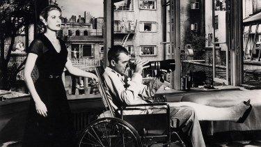 Gorgeous Grace Kelly teams up with a scrawny Jimmy Stewart in Rear Window.