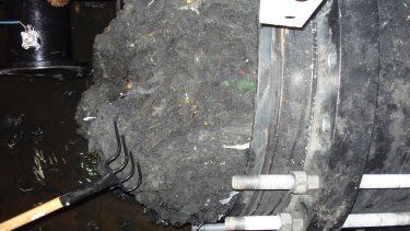 """A """"fatberg"""" removed five years ago at a wastewater pump station in Munster."""