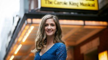 Beautiful role: Esther Hannaford plays Carole King in the Australian version of the hit Broadway musical.