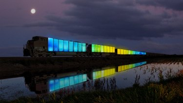 Doug Aitken's Station to Station project.