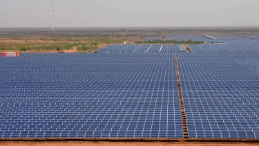 Large-scale solar investment is improving.