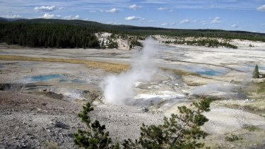The Norris Geyser Basin in Yellowstone National Park, where Colin Nathaniel Scott is thought to have died.
