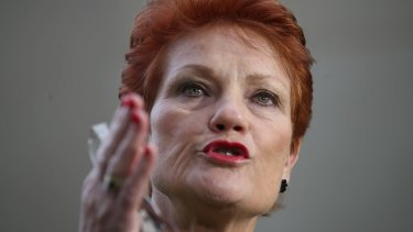 """One Nation leader Pauline Hanson says she's """"had to pick up the pieces from an organisation that was run incompetently and by people who were not up to doing the job""""."""