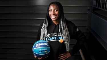 Ezi Magbegor has impressed in a tough season for the Capitals.