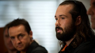 Vital partnership: Wests Tigers coach Jason Taylor needs captain Aaron Woods (foreground) on side.