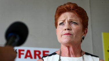 Pauline Hanson's office declined to comment.